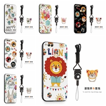 Flower TPU Case for Huawei Honor 7X Case Cat Holder Silicon Back Phone Bag for Huawei L21 L22 L24A L10/TL10 Cover 360 Ring Strap