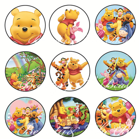 Winnie The Pooh Stickers Cupcake Toppers Birthday Party