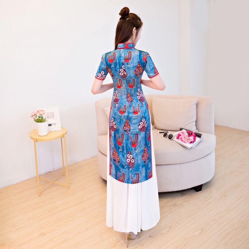 Cheongsam Elegante M Vestito Lungo 189743 Rayon Modo Xxl Corta 145 Nuovo Xl Taglia Donne Di Delle Arrivo Manica S Cinese Stile Abiti L Qipao qwICfUP