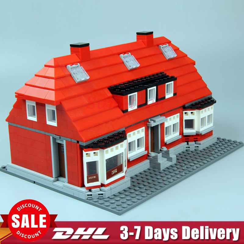 IN Stock Lepin 17006 928Pcs Serier The Red House Set 4000007 Education Building Kits Blocks Bricks Model Toys Gifts in stock lepin 23015 485pcs science and technology education toys educational building blocks set classic pegasus toys gifts