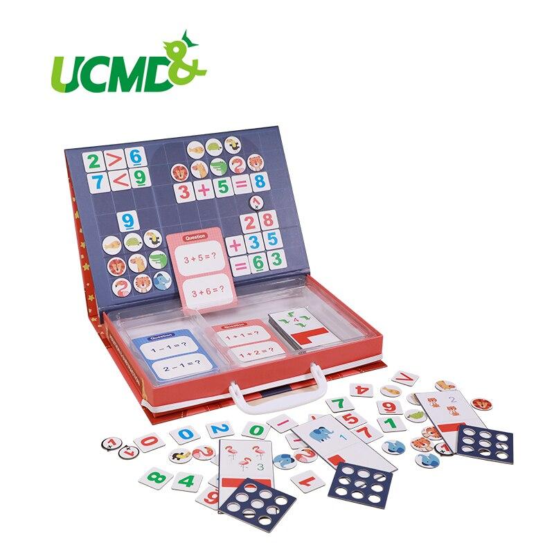 Montessori enfants début jouet éducatif magnétique mathématiques Addition soustraction enseignement Puzzle jeu enseignement compte aide cadeau