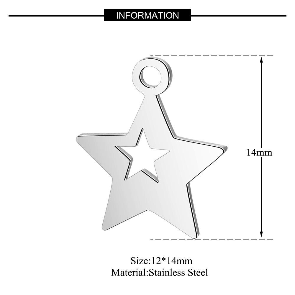 10 шт./лот из нержавеющей стали Угловые Подвески VNISTAR полированная звезда снежинка Звездная Луна DIY ювелирные изделия Шарм поиск поставки - Окраска металла: T150