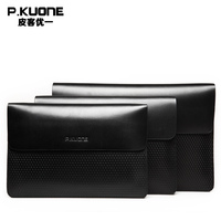 P KUONE Genuine Leather Clutch Bag 2017 Fashion High Quality Top Men Wallets Luxury Brand Purse