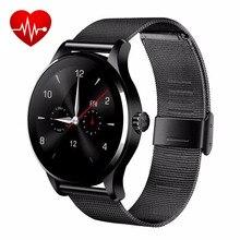 """Neue Blutooth Smart Uhr K88H 1,22 """"Runden Bildschirm MTK2502 Smartwatch Fitness Sync Herzfrequenzmesser Für Android IOS Armbanduhr"""