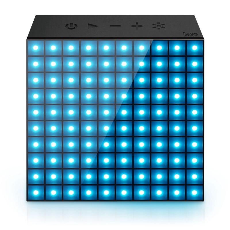 DIVOOM AURABOX SMART alarme horloge LED lumière sans fil bluetooth haut-parleur avec APP Contrôle pour Pixel Art Création + animation