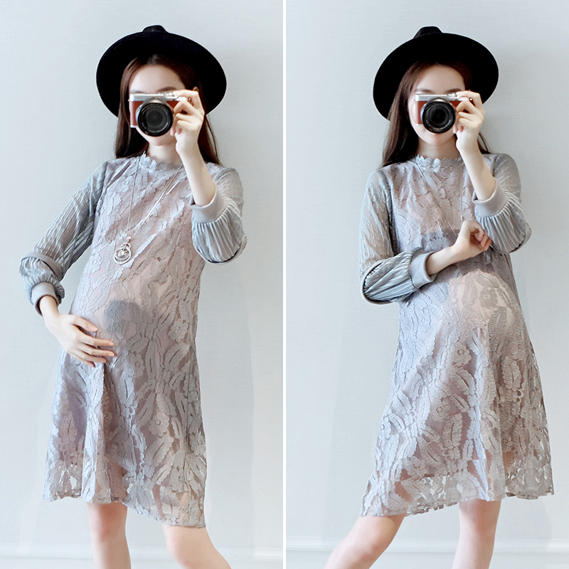 2017 autumn bohemian embroidery maternity dress cotton maternity dress women pregnancy clothes 2017 autumn maternity dress t shirt