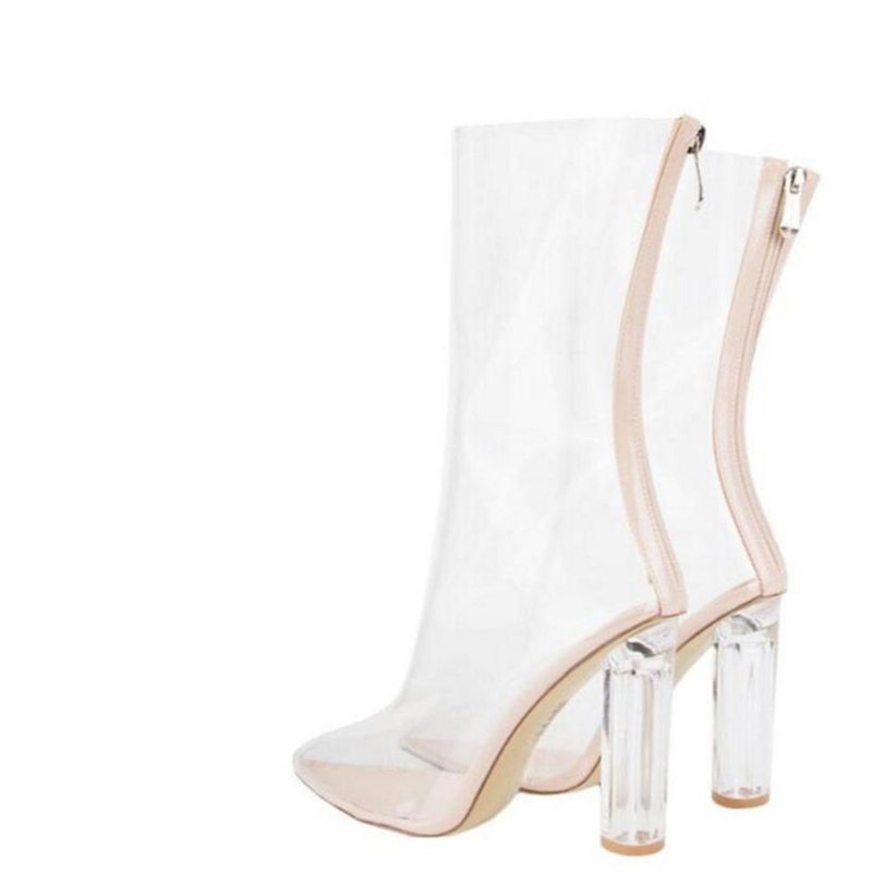 2017 summer crystal female high-heeled sandals genuine leather transparent cool boots with transparent sandals plus size 40 - 43 2017 new female high heeled sandals in summer with thick slope toe platform waterproof word buckle flower cool boots