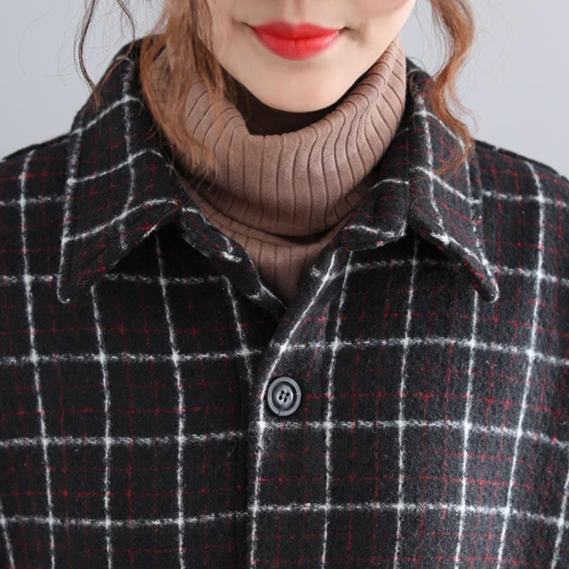 2018 xitao Turn Mélange Automne Lyh1510 Collar Plaid Unique Corée Lâche Poitrine down Black Femmes Femelle De Mode Long Manteau Casual 55wqBSr