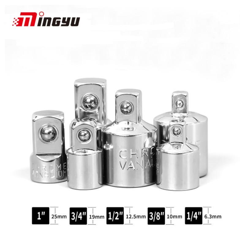 "1/4"" 3/8"" 1/2"" Ratchet Wrench Adapter Chrome Vanadium Steel Sleeve Adapter Drive Socket Converter Wrench-sleeve Joint Converter"
