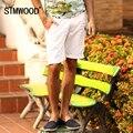 SIMWOOD Марка Мужские Джинсовые Шорты 2016 Новый Летний Регулярный Повседневная Краткости Длины колена Отверстие Джинсы Шорты Для Мужчин Бесплатная Доставка KD5030