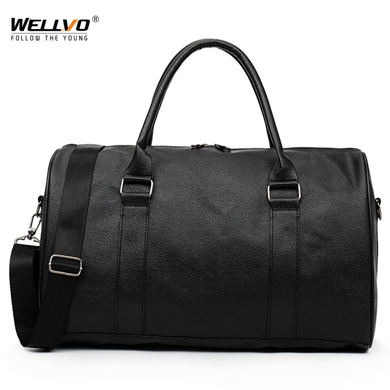 Fashion Large Weekend Duffel Bag Large PU Leather Business Men's Travel Bag Popular Design Duffle Traveling Bag For Male XA28C
