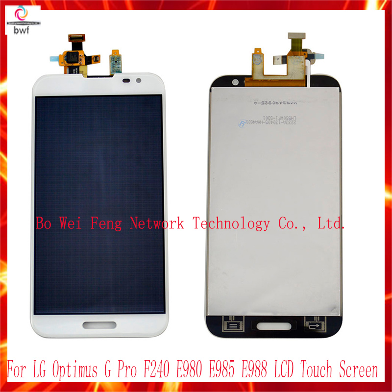 ФОТО High Quality LCD display Touch Screen Digitizer Assembly Replacement For LG Optimus G Pro F240 E980 E985 E988 free shipping