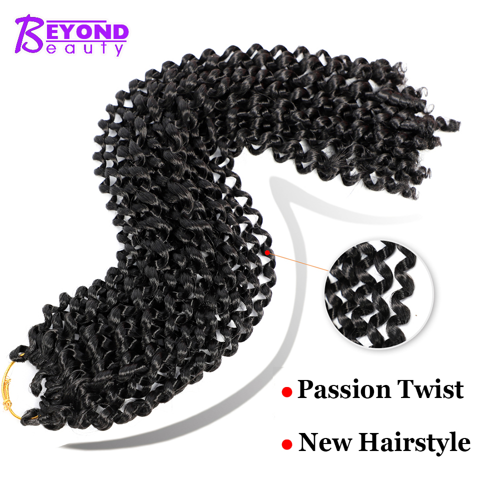 Passion Twist Natural Nubian Twist Synthetic Hair Bulk 22strands Twists Hair Water Wave Crochet Hair Extensions