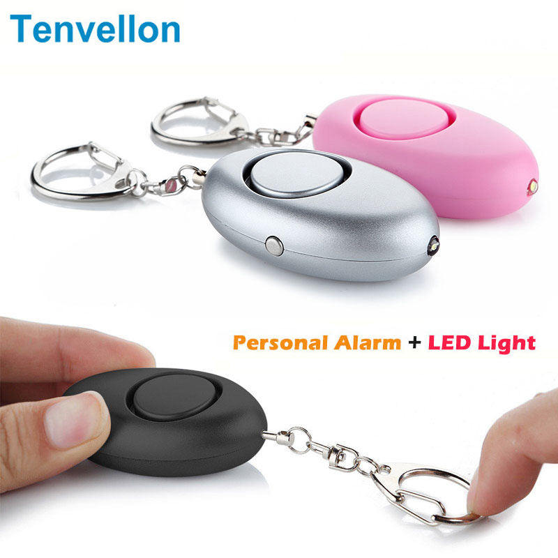 Self Defense Supplies Mini Keychain Personal Alarm Emergency Alarm Security Protection Personal Defense Tool with LED Light