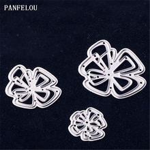 PANFELOU Metal craft Three flower paper die cutting dies for Scrapbooking/DIY Christmas wedding Halloween cards(China)