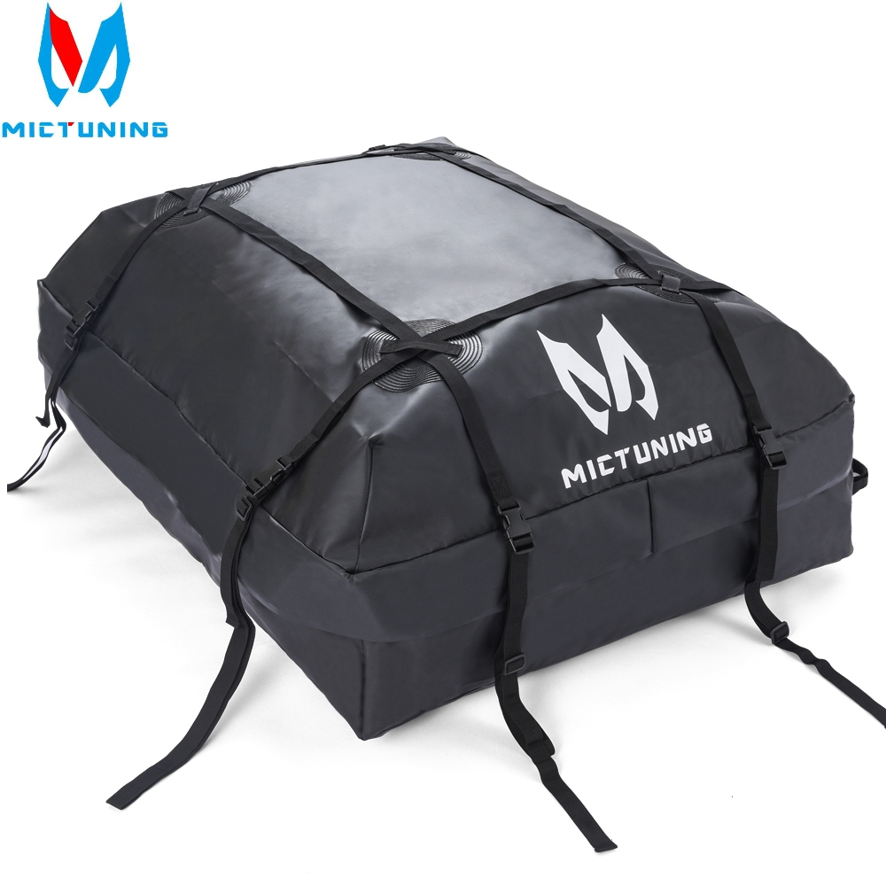 MICTUNING Waterproof Roof Top Carrier Cargo Luggage Travel Bag 15 Cubic Feet For Vehicles With Roof