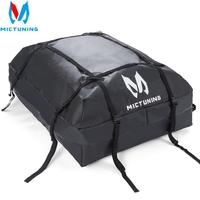 MICTUNING Waterproof Roof Top Carrier Cargo Luggage Travel Bag (15 Cubic Feet) For Vehicles With Roof Rails T24528a Storage Bag