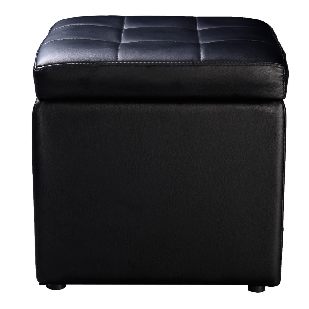 Factory direct sale Large Faux Leather Ottoman Folding OTTOMAN Storage Pouffe Toy Box SEAT Foot Stool Seat Free shipping HW47908-in Storage Boxes u0026 Bins ...  sc 1 st  AliExpress.com & Factory direct sale Large Faux Leather Ottoman Folding OTTOMAN ...