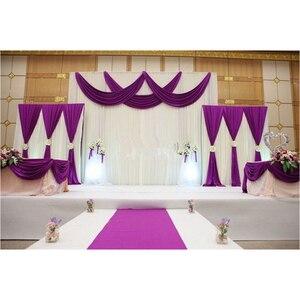 Image 1 - 1 סט רקע שלב וילון פנינה קרח משי בד וילונות DIY כיסוי רעלה לחתונה מסיבת מכירה לוהטת