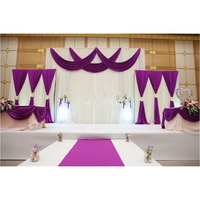 1 Set Background Stage Curtain Pearl Ice Silk Fabric Drapes DIY Cover Veil For Wedding Party Banquet Decoration Hot Sale