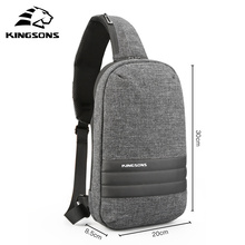 Kingsons Chest Bag Single Shoulder Back pack  Crossbody Bags Casual Messenger Small Bag For Short Travelling