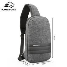 Kingsons peito saco de ombro único volta pacote crossbody sacos mensageiro ocasional pequeno saco para viajar curto