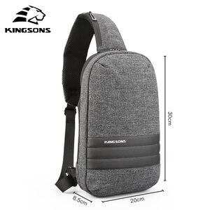 Image 1 - Kingsons 가슴 가방 단일 어깨 백 팩 크로스 바디 가방 캐주얼 메신저 짧은 여행을위한 작은 가방