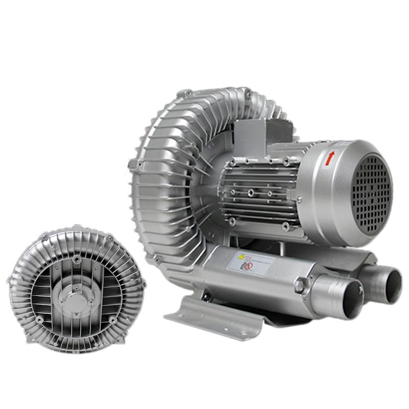 250W Industrial High Pressure Vortex Vacuum Pump 220V 1PH Dry Air Blower for Industrial Machine new arrival high pressure blower ring vortex blower high prssure air pump 2rb230 7ah160 220v 380v
