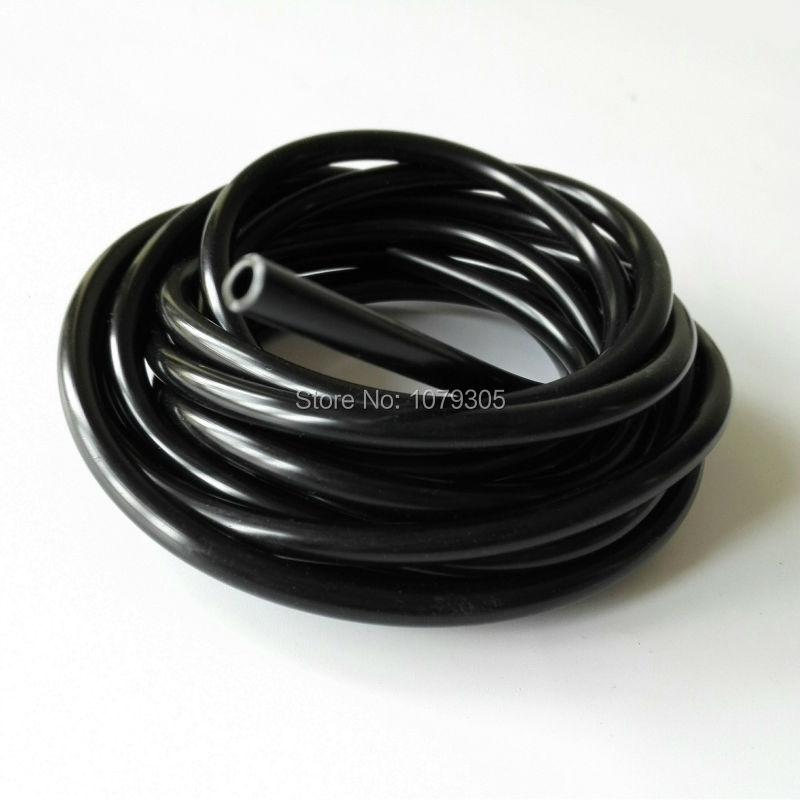 Tronçonneuse fule réservoir pièces de rechange tuyau d'huile noir diamètre intérieur 3,5 mm 3 mètres
