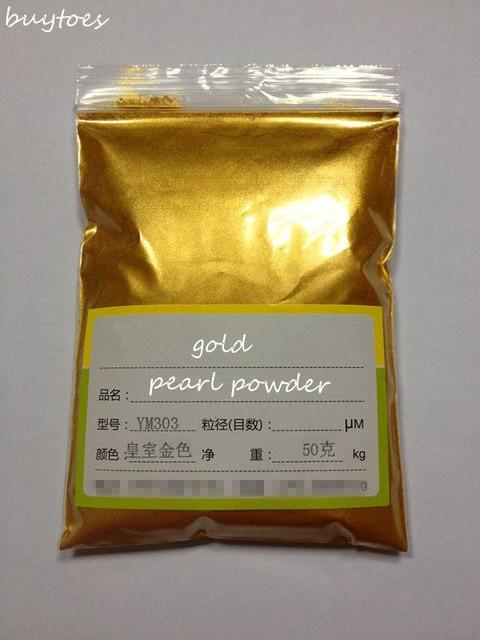 50g gran venta Flash polvo de oro perla pigmento polvo perla plata diamante blanco polvo pigmento