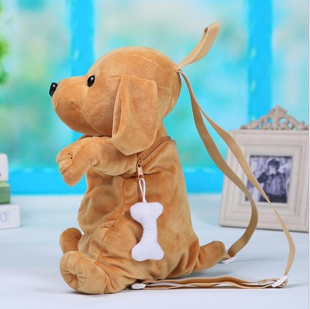 1 pcs Cão mochila de pelúcia crianças brinquedos de pelúcia saco pequeno saco pequeno saco 5 cores 30*15*11 cm
