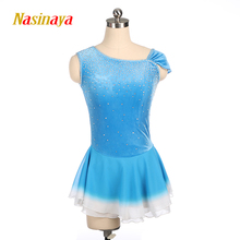 Nasinaya Figure Skating Dress Customized Competition Ice Skating Skirt for Girl Women Kids Patinaje Gymnastics Performance 406