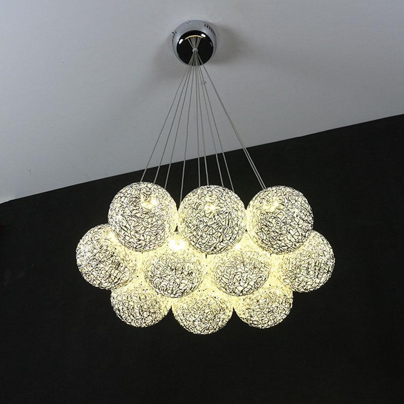 Modern Simple Aluminum Ball Pendant Light Creative Sphere Hanging Lamp For Foyer Bedroom Dining Room Art Decor 3head crystal light ball aluminum pendant light child real dining room pendant light modern fg964