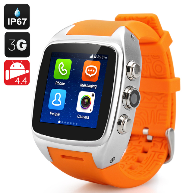 2015 NEW IMacwear M7-Orange Fashion 3G Smartwatch Phone Android4.2.2 GPS Sports Pedometer Heart Rate Monitor HOT SALE