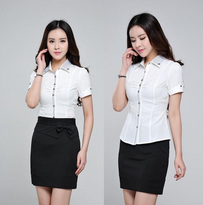 Nueva camisa 2015 moda verano mujer Blusas de manga corta