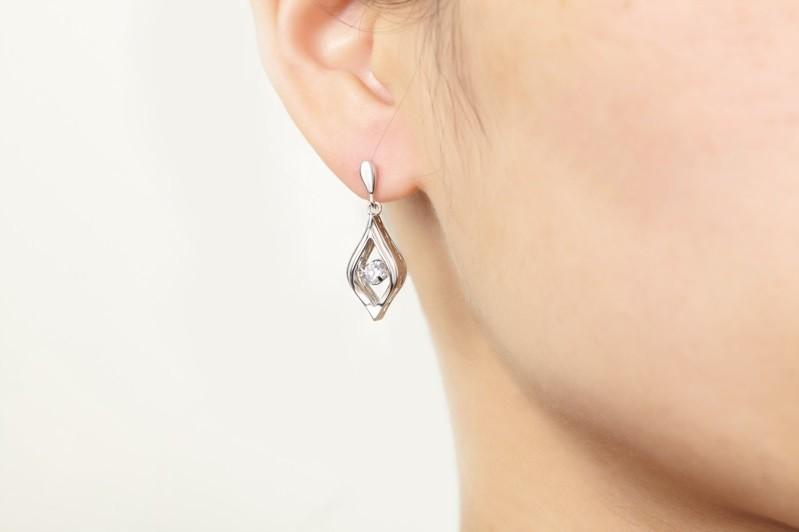 Double Sided Crystal 925 Sterling Silver Stud Earrings Women Fine Jewelry Cubic Zirconia Korean Fashion,925-sterling-silver-jewelry (6)