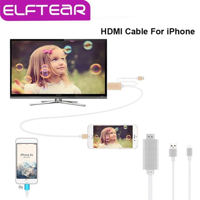 Aluminiun liga cabo adaptador hdmi para para iphone 6 s plus 6 plus 6 s 7 1080 P Cabo Adaptador para hdtv TV Cabo De Saída De Áudio de Vídeo