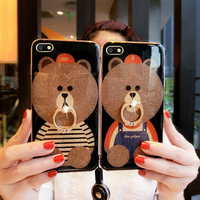 5 5inch For OPPO A77 A77t Case Cover Luxury Glossy Bear Soft Border Back Cases For