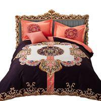 Boho Lixado Jogo de cama Têxtil de Casa 4 pcs Inverno Engrossar Quente jogo de cama Quilt Cover Define Rainha do Rei Folha de Cama de tamanho fronhas