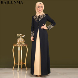 Abayas для женщин мусульманское платье для женщин gamis мусульманское wanita robe Дубай moslim jurken robe musulmane femme djelaba femme
