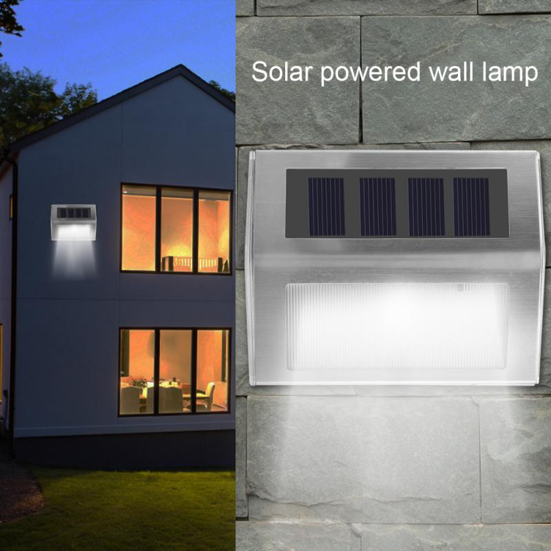 Stainless steel 3led solar light garden solar wall lamp - Luz solar exterior ...