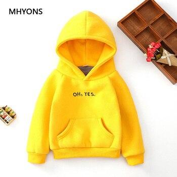 MHYONS 2018 New Kids Hoodies Girls Sweatshirts Autumn Winter Children Hoodies Long Sleeves Boys Warm Sweater Kid T-shirt Clothes