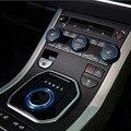 Ar condicionado botão do deslocamento de engrenagem botão haed capa guarnição etiqueta para range rover evoque interior acessórios cromo styling