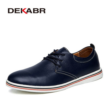 DEKABR Size 38~47 Men Casual Shoes Breathable Sneakers Fashion Masculino Genuine Leather Shoes Zapatos Hombre Sapatos Men Shoes