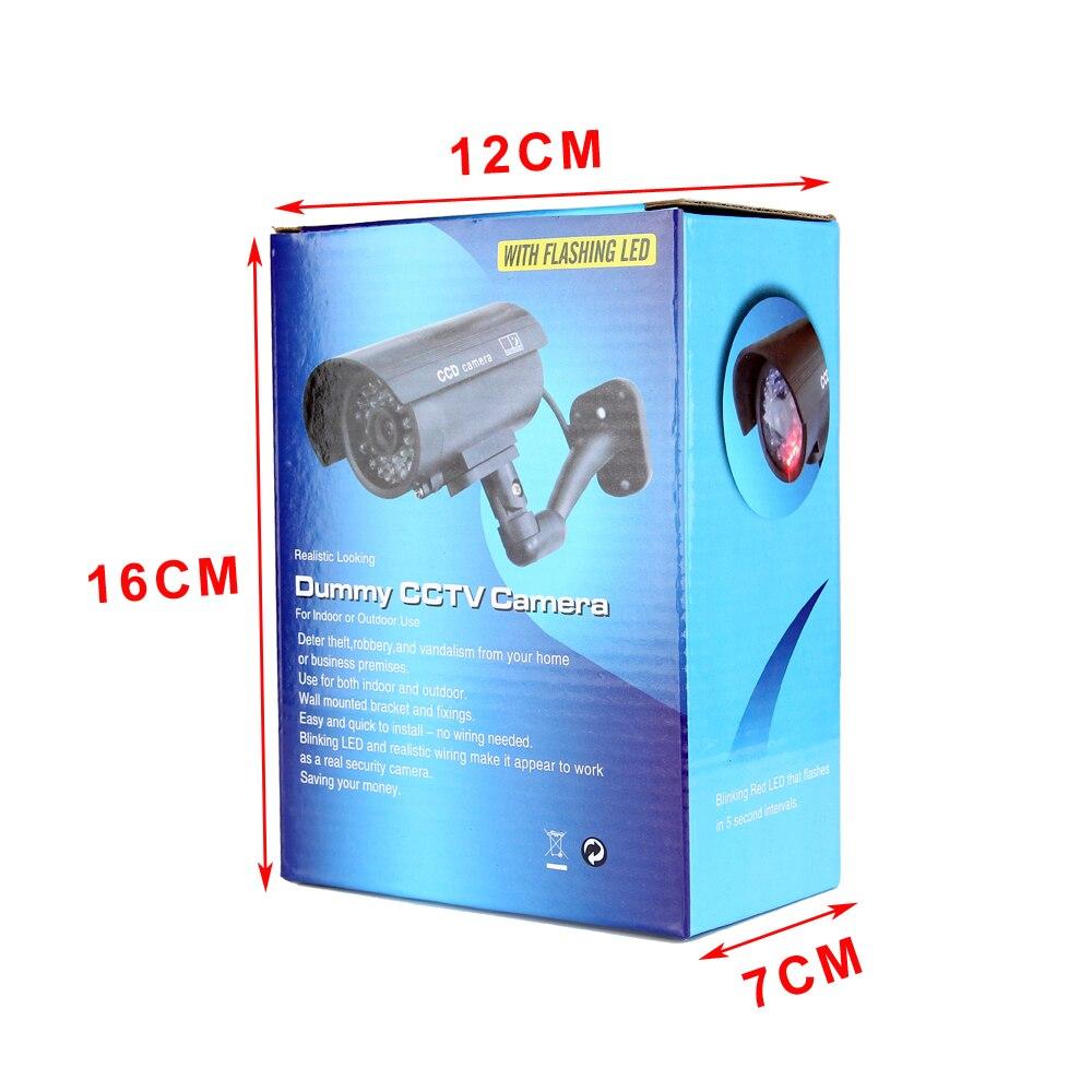 HTB1q5lNdmfD8KJjSszhq6zIJFXa3 Cdycam Fake Dummy Camera Bullet Waterproof Outdoor Indoor Security CCTV Surveillance Camera With Flashing Red LED Free Shipping