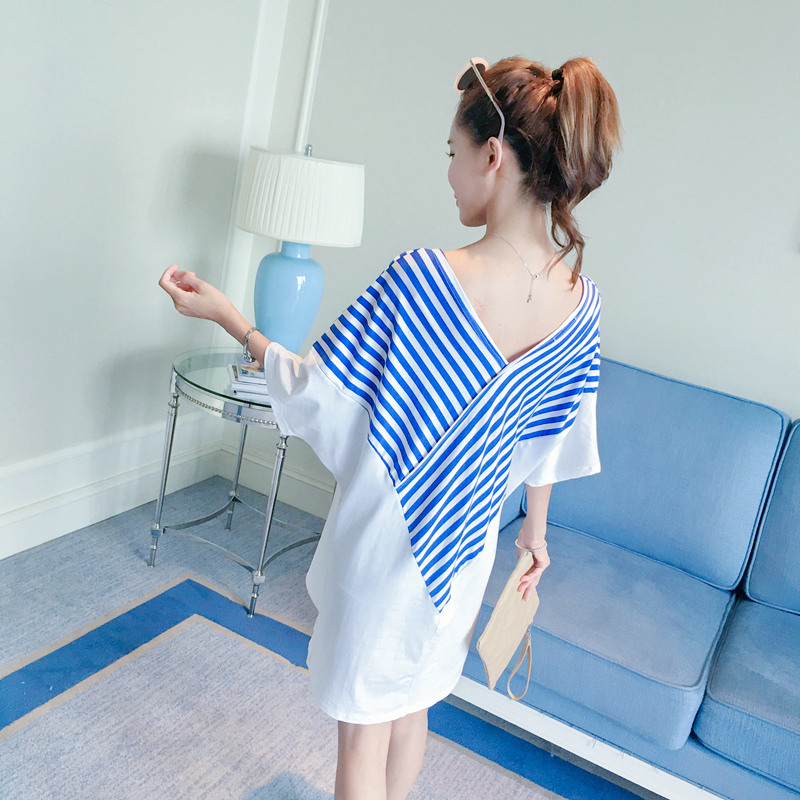 3bf67f190 Maternity Pregnancy Dress Summer Clothes Women Ropa Maternal Striped  Maternity Wear Dress Big Sizes Pregnant Clothing 602156-in Dresses from  Mother   Kids ...