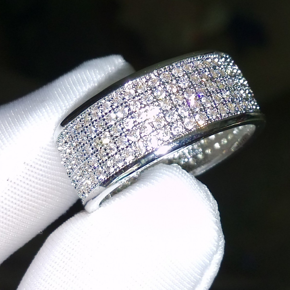Victoria Wieck Round band ring 250Pcs Simulated Diamond 10KT White Gold Filled Ring Set Sz 5