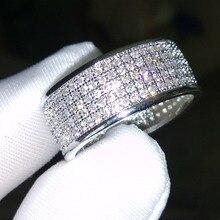 Victoria Wieck Redonda anillo de la venda 250 Unids Diamante Simulado Blanco de 10KT Gold Filled Anillo Sz 5-11 Envío gratis