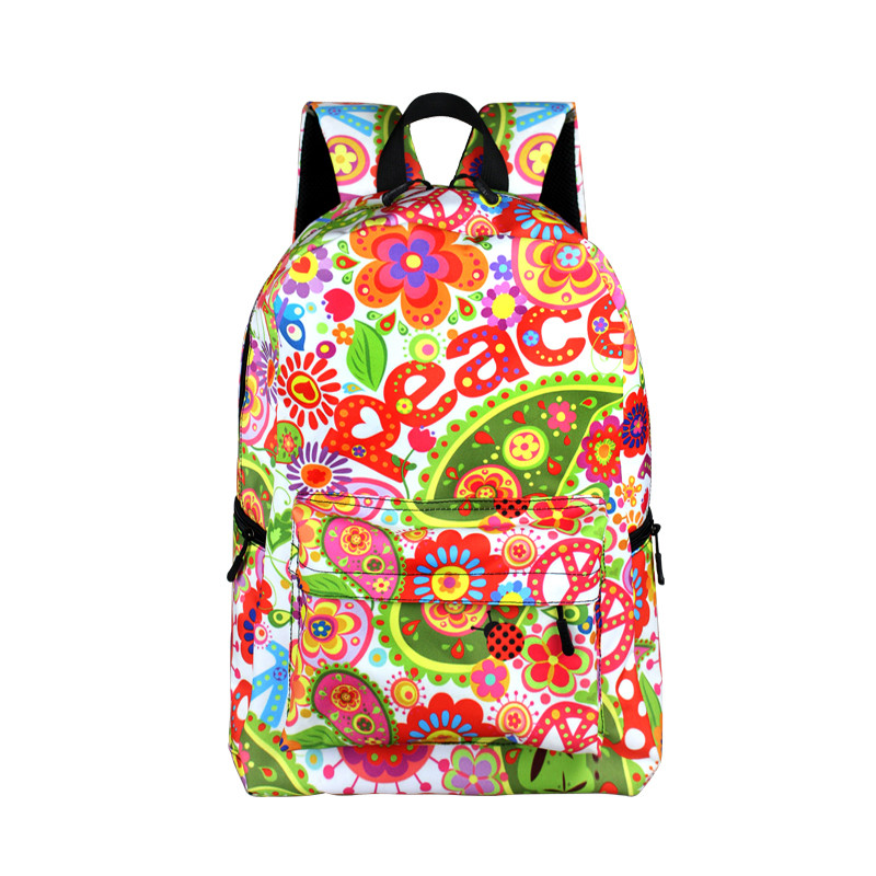 Backpacks with Cannabis and Other Patterns Backpacks
