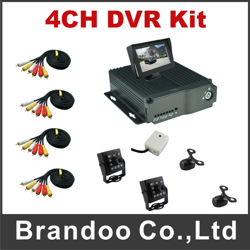 4CH Mobile DVR D1 Vehicle Car DVR for Bus Taxi Used 4 Channel MDVR Kit including 4pcs Camera купить в Москве 2019